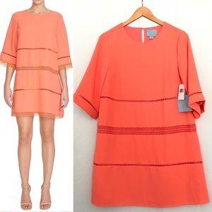 NEW CeCe X Cynthia Steffe Salmon Dress Lace Detail